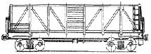 вагон для среднетоннажных контейнеров на базе полувагона