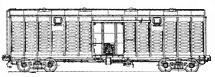 4-осный крытый цельнометаллический вагон